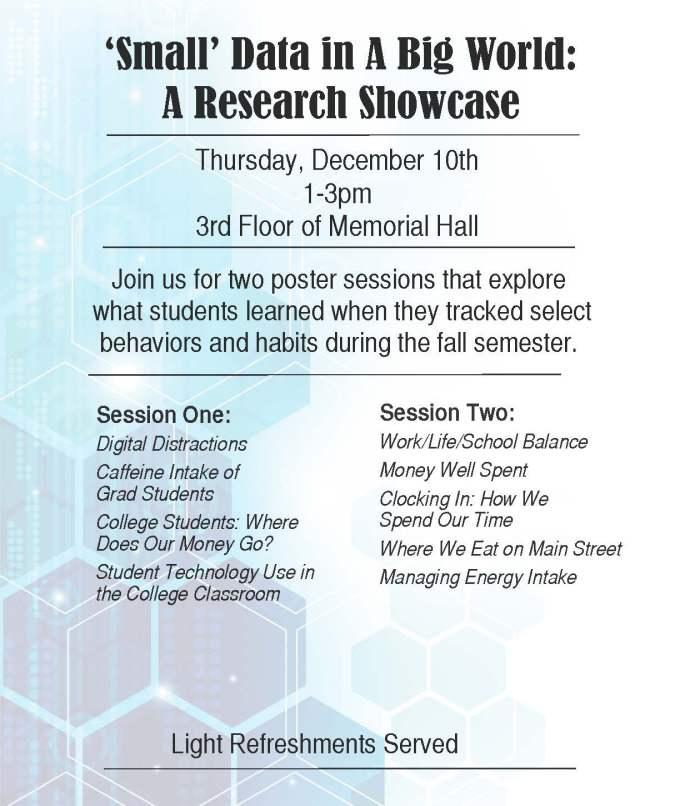 """Small Data in a Big World"" Research Showcase"
